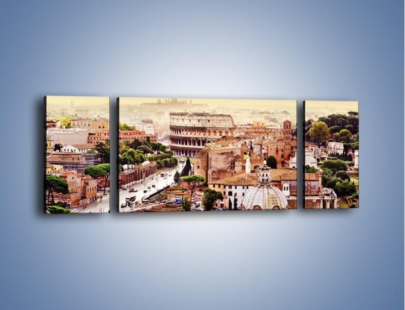 Obraz na płótnie – Panorama Rzymu – trzyczęściowy AM338W5