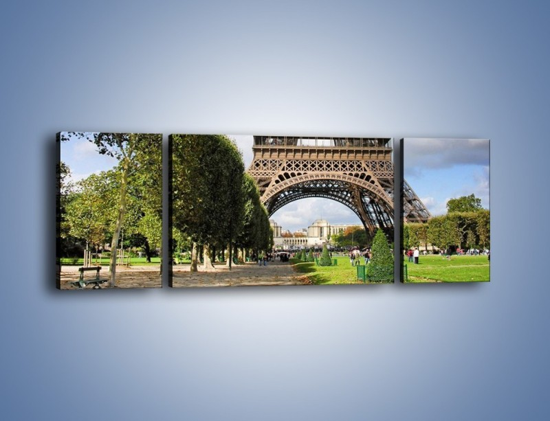 Obraz na płótnie – Wieża Eiffla – trzyczęściowy AM340W5