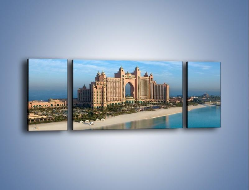 Obraz na płótnie – Atlantis Hotel w Dubaju – trzyczęściowy AM341W5