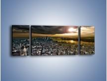 Obraz na płótnie – Czarne chmury nad Nowym Yorkiem – trzyczęściowy AM347W5