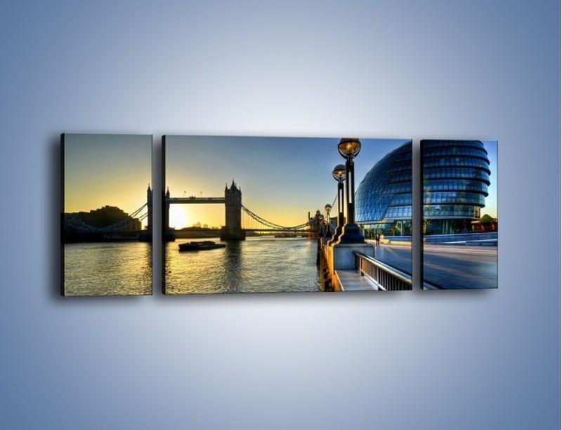 Obraz na płótnie – Londyński Tower Bridge – trzyczęściowy AM348W5