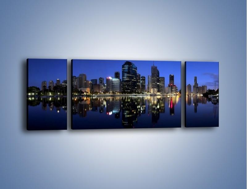 Obraz na płótnie – Brisbane w Australii nocą – trzyczęściowy AM354W5