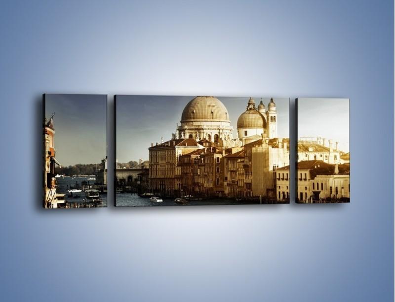 Obraz na płótnie – Zapadający zmrok na Wenecją – trzyczęściowy AM356W5