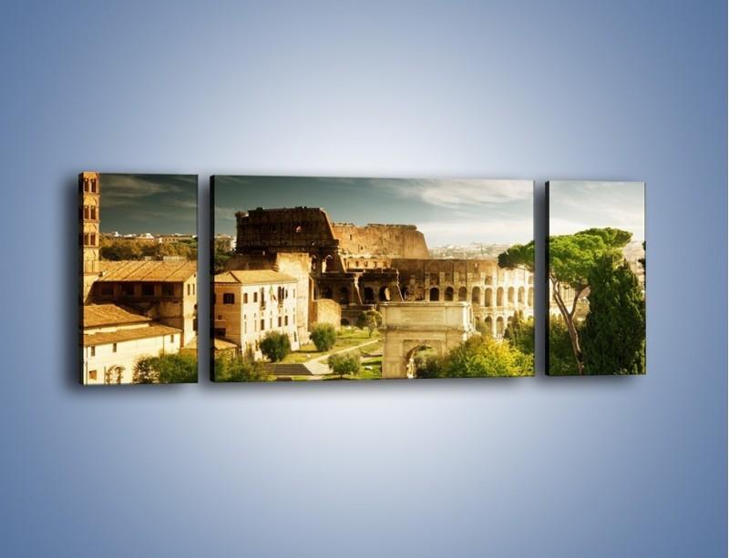 Obraz na płótnie – Ruiny starożytnego Rzymu – trzyczęściowy AM357W5