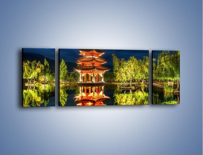 Obraz na płótnie – Urokliwy park w Chinach – trzyczęściowy AM365W5