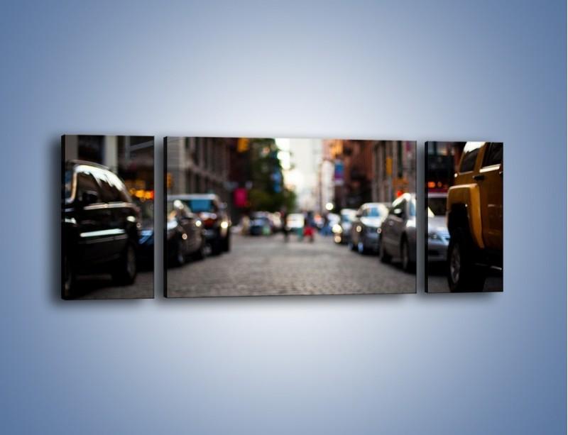 Obraz na płótnie – Rozmyty świat centrum miasta – trzyczęściowy AM367W5