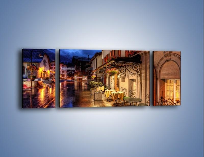 Obraz na płótnie – Romantyczne miasteczko pod Alpami – trzyczęściowy AM368W5