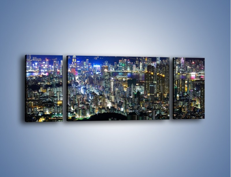 Obraz na płótnie – Drapacze chmur w Hong Kongu – trzyczęściowy AM369W5