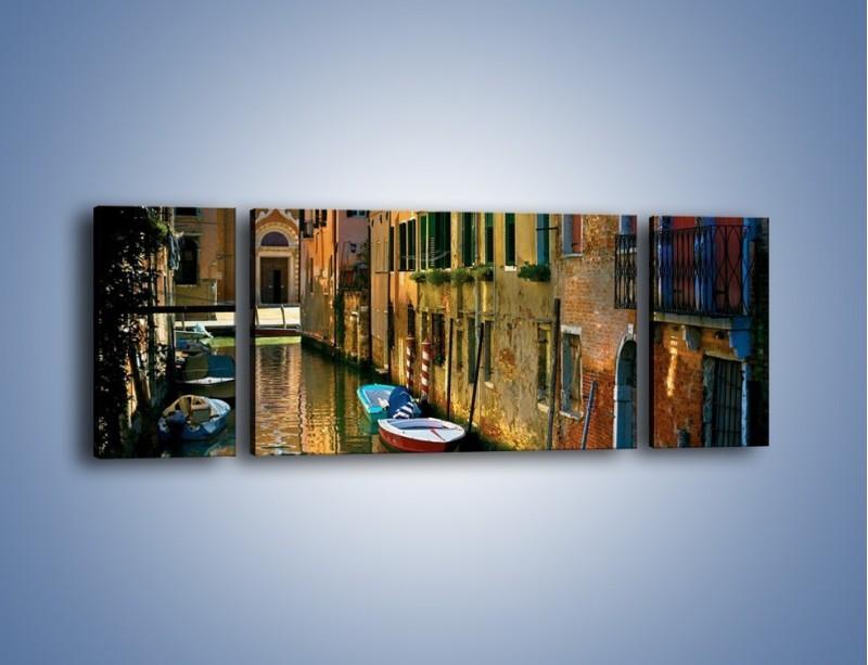 Obraz na płótnie – Cały urok Wenecji w jednym kadrze – trzyczęściowy AM371W5