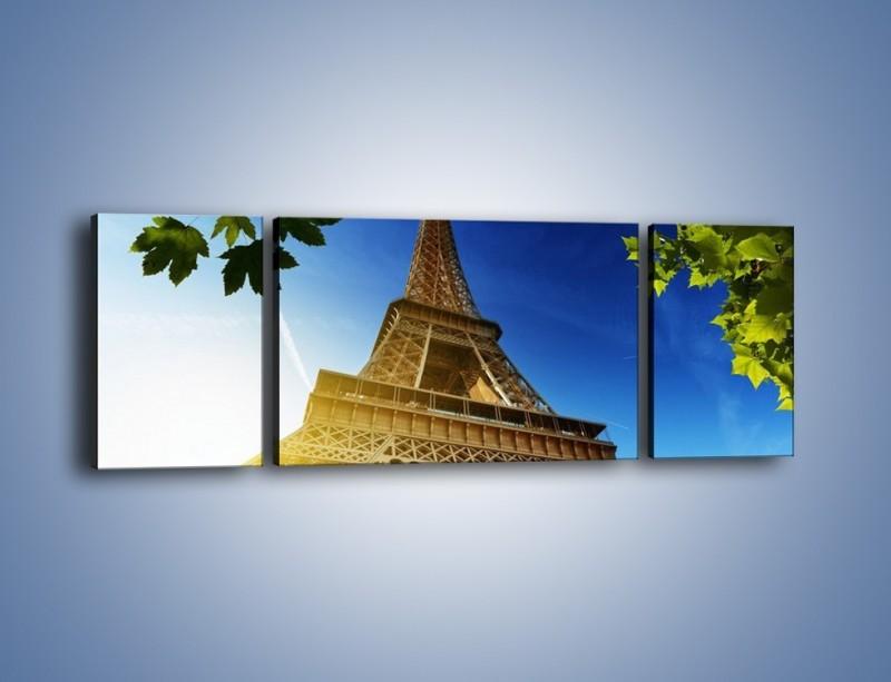 Obraz na płótnie – Wieża Eiffla w pełnej krasie – trzyczęściowy AM372W5