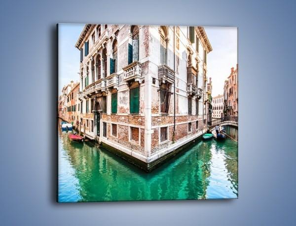 Obraz na płótnie – Skrzyżowanie wodne w Wenecji – jednoczęściowy kwadratowy AM081