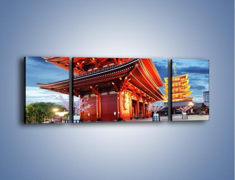 Obraz na płótnie – Świątynia Senso-ji w Tokyo – trzyczęściowy AM378W5