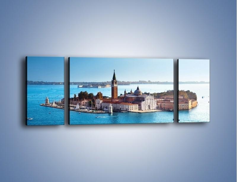 Obraz na płótnie – Wyspa San Giorgio Maggiore – trzyczęściowy AM380W5