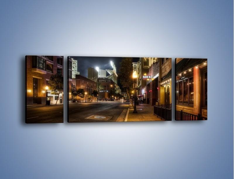 Obraz na płótnie – Ulica San Diego w Kaliforni – trzyczęściowy AM390W5