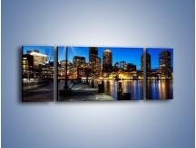 Obraz na płótnie – Boston wieczorową porą – trzyczęściowy AM393W5