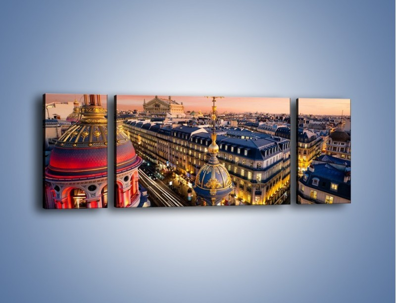 Obraz na płótnie – Paryska architektura – trzyczęściowy AM402W5
