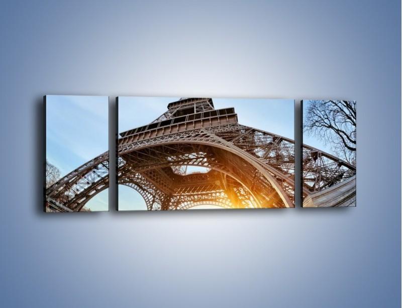 Obraz na płótnie – Wieża Eiffla w słońcu – trzyczęściowy AM403W5