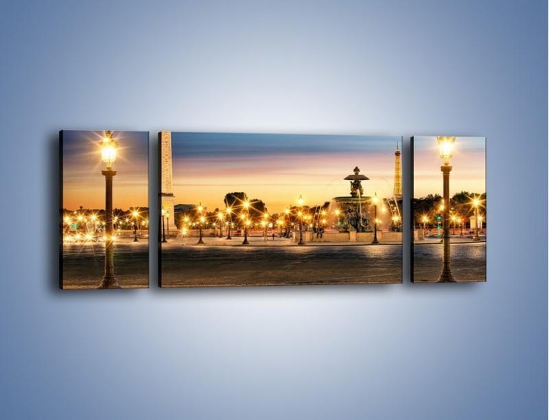 Obraz na płótnie – Place de la Concorde w Paryżu – trzyczęściowy AM404W5
