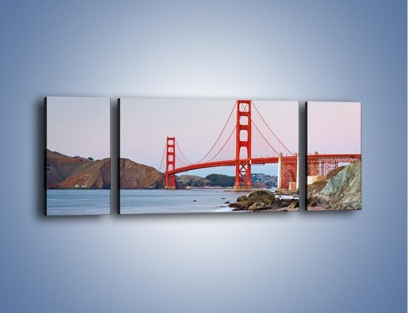 Obraz na płótnie – Most Golden Gate – trzyczęściowy AM406W5