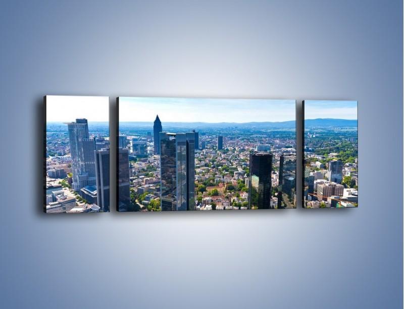 Obraz na płótnie – Panorama Frankfurtu – trzyczęściowy AM414W5