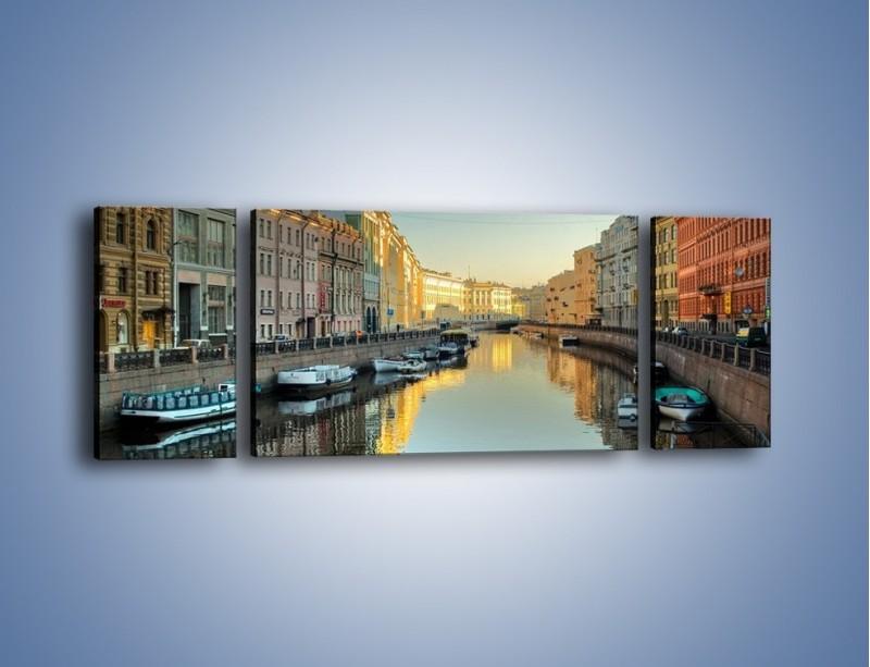 Obraz na płótnie – Kanał wodny w St. Petersburgu – trzyczęściowy AM422W5