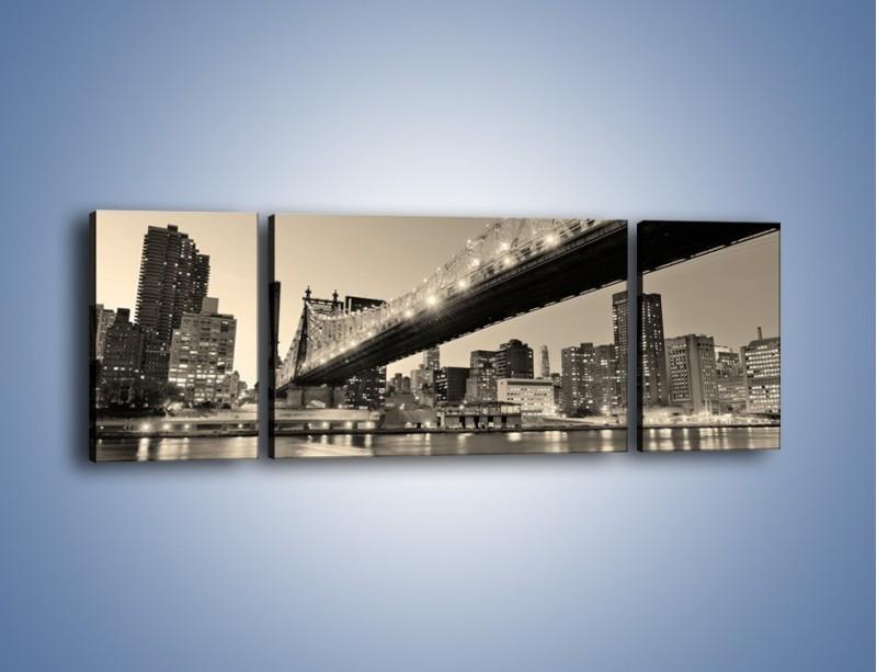 Obraz na płótnie – Most Qeensboro w Nowym Yorku – trzyczęściowy AM438W5