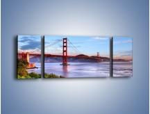 Obraz na płótnie – Most Golden Gate w San Francisco – trzyczęściowy AM444W5