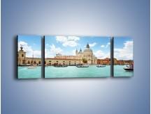 Obraz na płótnie – Canal Grande w Wenecji – trzyczęściowy AM449W5