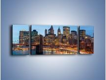 Obraz na płótnie – Manhattan w Nowym Yorku o poranku – trzyczęściowy AM453W5