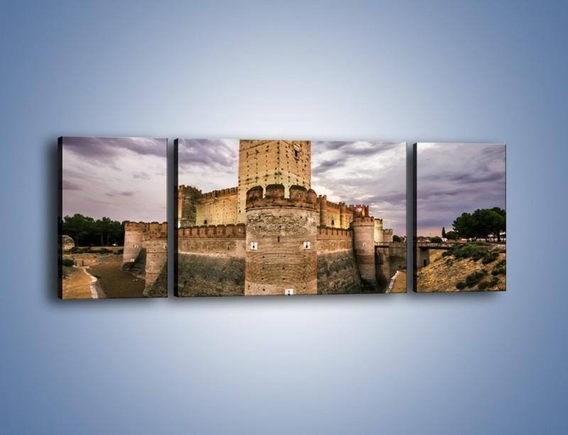 Obraz na płótnie – Zamek La Mota w Hiszpanii – trzyczęściowy AM457W5