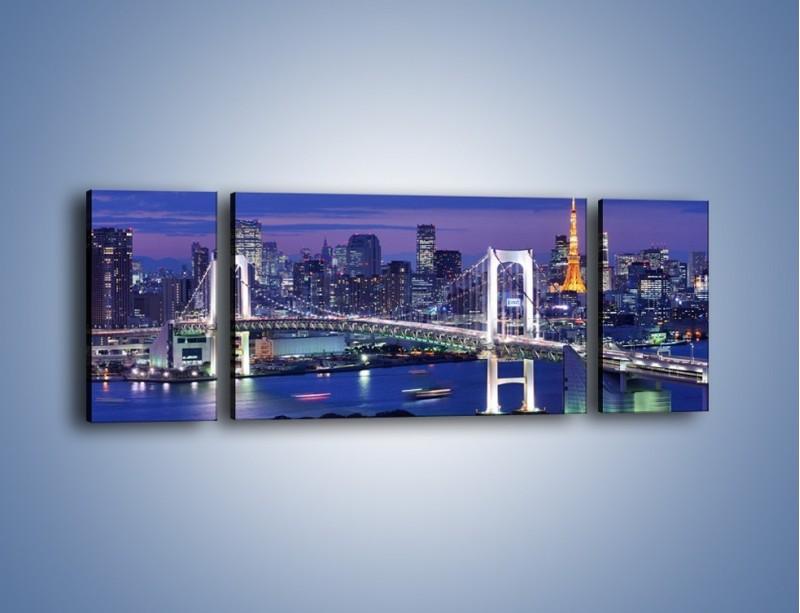 Obraz na płótnie – Tęczowy Most w Tokyo – trzyczęściowy AM460W5