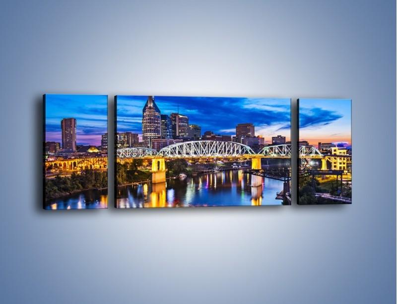 Obraz na płótnie – Most Shelby Street w Nashville – trzyczęściowy AM489W5