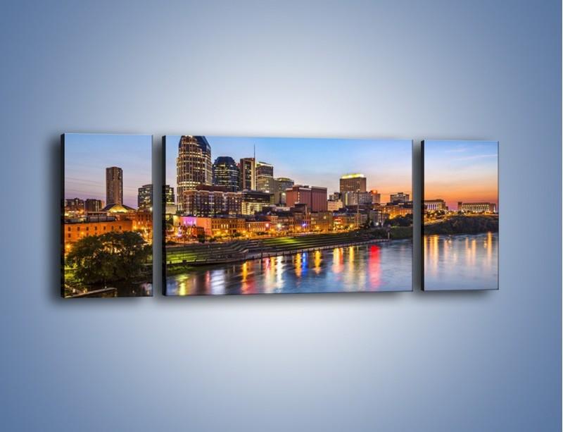 Obraz na płótnie – Nashville nad rzeką Cumberland – trzyczęściowy AM491W5