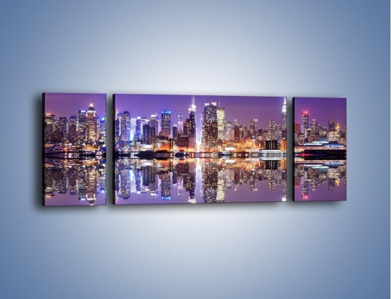 Obraz na płótnie – Panorama Midtown Manhattan – trzyczęściowy AM492W5