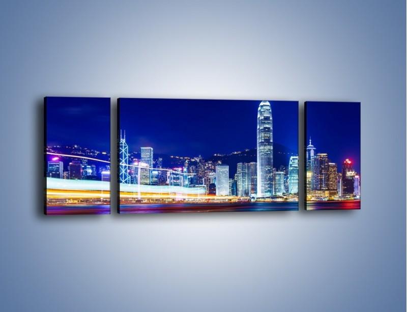 Obraz na płótnie – Panorama Hong Kongu – trzyczęściowy AM499W5
