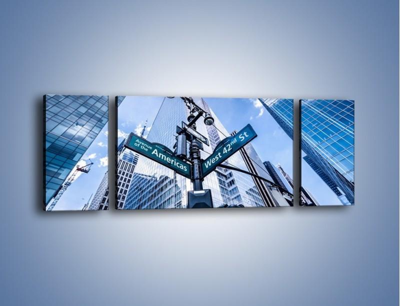Obraz na płótnie – Skrzyżowanie ulic w Nowym Jorku – trzyczęściowy AM501W5