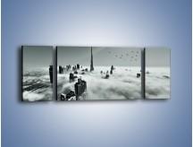 Obraz na płótnie – Centrum Dubaju we mgle – trzyczęściowy AM502W5