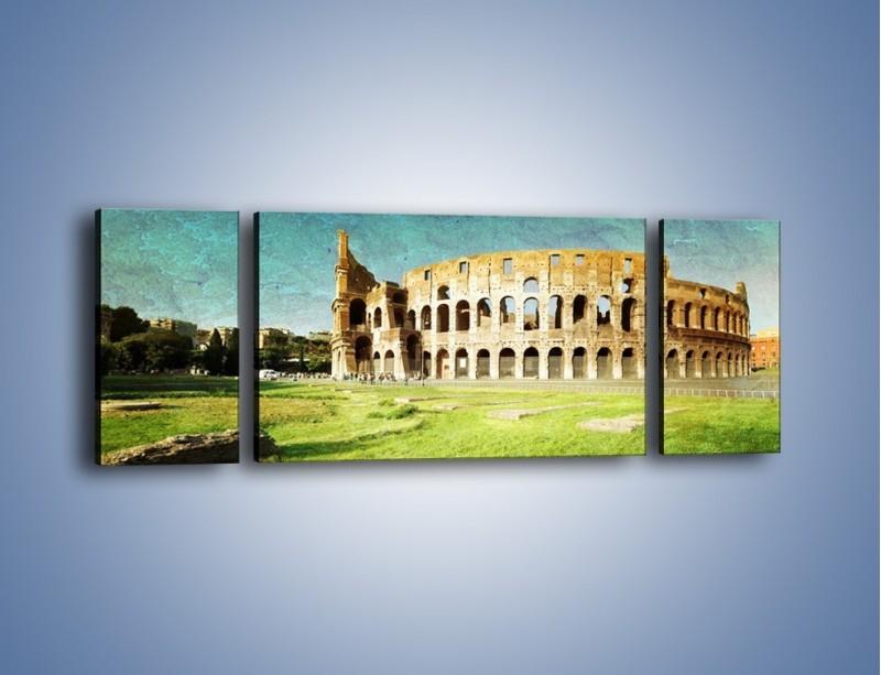 Obraz na płótnie – Koloseum w stylu vintage – trzyczęściowy AM503W5