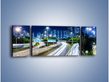 Obraz na płótnie – Autostrada prowadząca do Hong Kongu – trzyczęściowy AM504W5