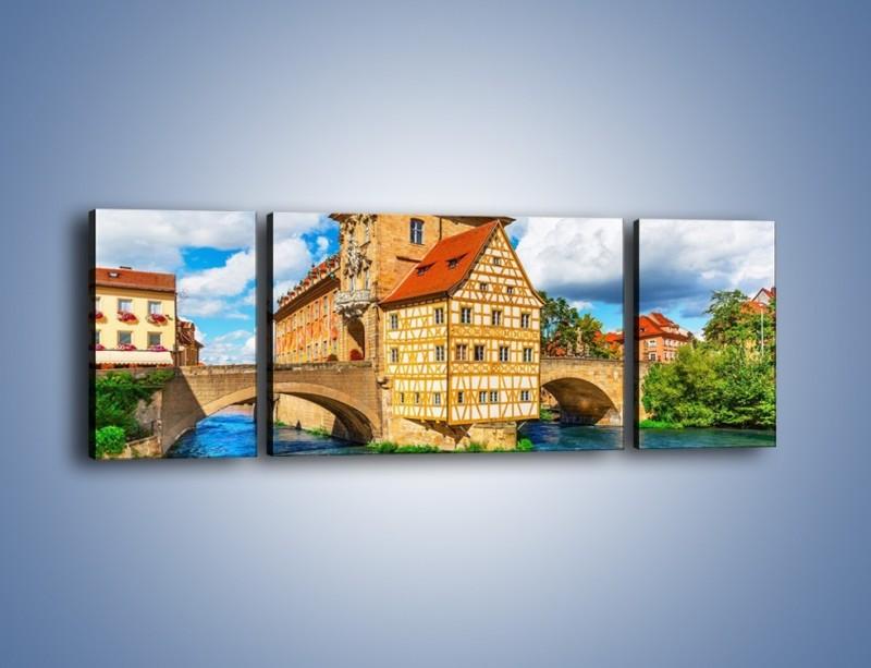 Obraz na płótnie – Ratusz w mieście Bamberg – trzyczęściowy AM513W5