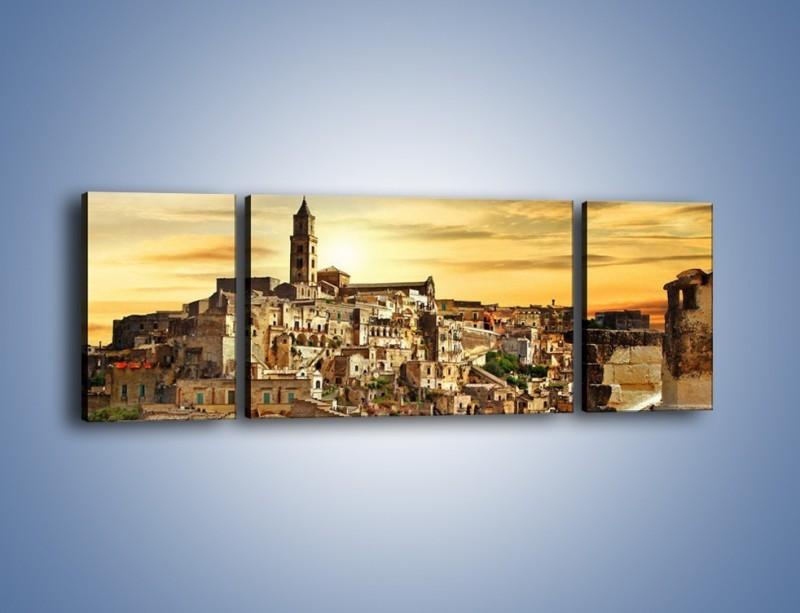 Obraz na płótnie – Matera – miasto wykute w skale – trzyczęściowy AM517W5
