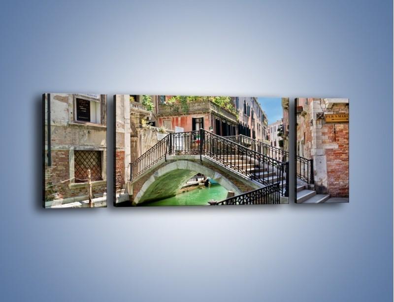 Obraz na płótnie – Wenecki most – trzyczęściowy AM523W5