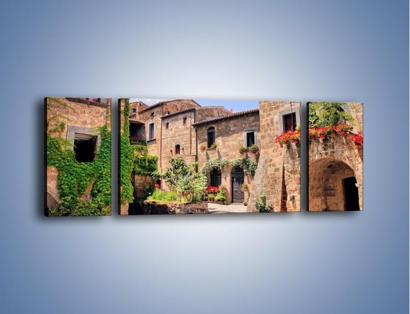 Obraz na płótnie – Romantyczna uliczka we Włoszech – trzyczęściowy AM533W5