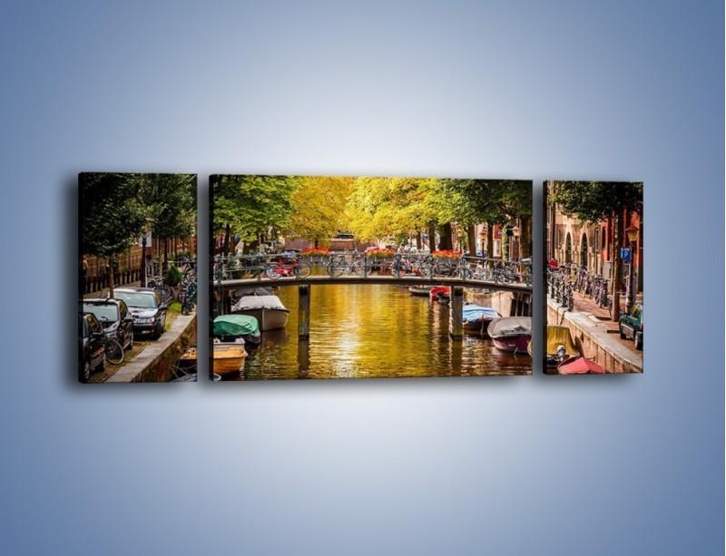 Obraz na płótnie – Most nad amsterdamskim kanałem – trzyczęściowy AM552W5