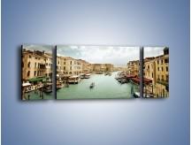 Obraz na płótnie – Cieśnina Canal Grande w Wenecji – trzyczęściowy AM559W5