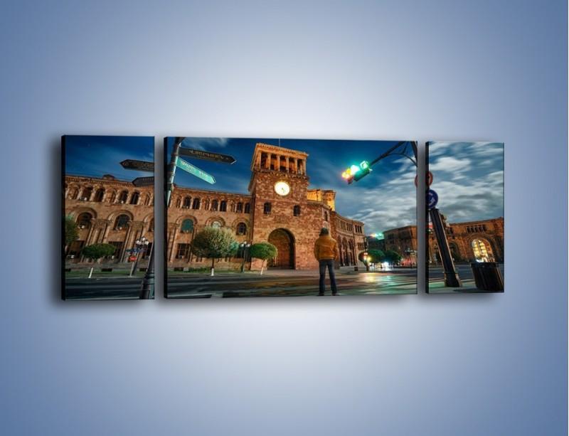 Obraz na płótnie – Rozgwieżdżone niebo nad Erewaniem – trzyczęściowy AM574W5