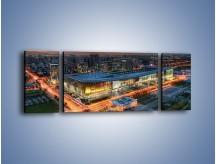 Obraz na płótnie – Centrum kongresowe CNCC w Chinach – trzyczęściowy AM575W5