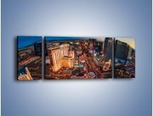 Obraz na płótnie – Centrum Las Vegas – trzyczęściowy AM588W5