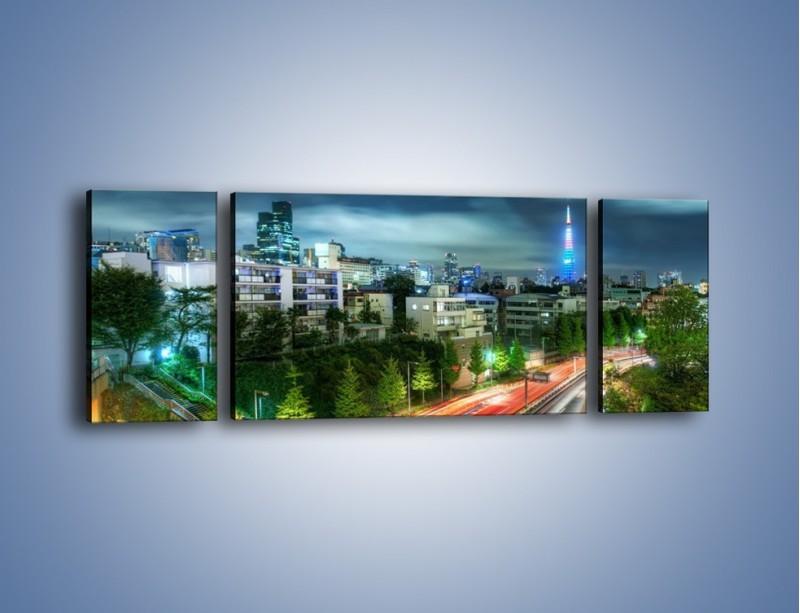 Obraz na płótnie – Miasto Roppongi w Japonii – trzyczęściowy AM593W5
