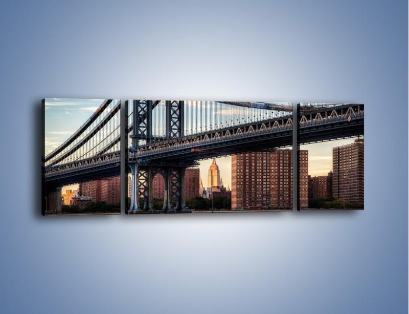 Obraz na płótnie – Manhattan Bridge – trzyczęściowy AM607W5